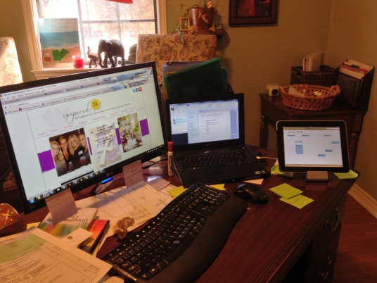 Yes my desk always looks this way!